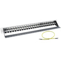 CAT7PP-24FF Cat7 Patch Panel with Feed-Thru Connectors - 1 RU - 24 Port
