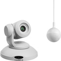 Vaddio 999-99950-800W ConferenceSHOT AV Bundle - HD PTZ Camera with 10x Zoom - CeilingMIC x1 (no speaker) - White