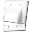 Vanco 120627X Hinged Bulk Cable Wall Plates - Dual and White