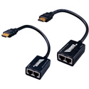 Vanco 280552 75 Foot HDMI Extender Over 2x CAT-5e Cables