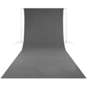 Westcott 141 Wrinkle-Resistant 9 Foot x 20 Foot Video Backdrop - Neutral Gray