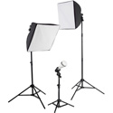Westcott 403L-C uLite LED 3-Light Collapsible Softbox Kit with 2.4 GHz Remote - 45W