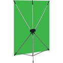 Westcott 579K X-Drop Wrinkle-Resistant Backdrop - Chroma-Key Green Kit (5 Foot x 7 Foot)