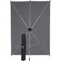 Westcott 620K X-Drop Wrinkle-Resistant Backdrop - Neutral Gray Kit (5 Foot x 7 Foot)