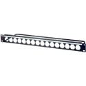 AVP WKM-US116E1-Z-B81 1RU Maxxum Panel Accepts 16 Single D Modules MIS - 6 Inch Bar