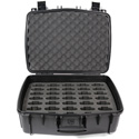 Williams AV CCS Large Water Resistant Carry Case w/ 35 Slot Foam Insert for PPA T46 Transmitter & Body-Pack Receivers