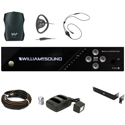 WILLIAMS AV FM 557 PRO Plus Large-area Dual FM and Wi-Fi Assistive Listening System with 4 FM R37 Receivers