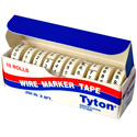 Wire Marker Tape Refills Numbered 0-9 White