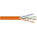 West Penn 254245 Plenum Cat5e Cable - 1000 Foot Reel in Box Orange