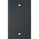 Blank Single Gang Black Anodized Aluminum Wall Plate