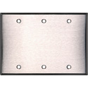 Blank Stainless Steel Triple Gang Wall Plate