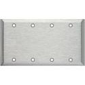 My Custom Shop WP4000 Blank 4-Gang Stainless Steel Wall Plate