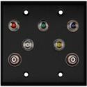 My Custom Shop WPBA-2126 2-Gang Black Anodized Wall Plate w/ 5 BNC RGBHV Barrels & 2-RCA Barrels