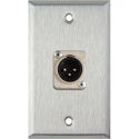 1-Gang Stainless Steel Wall Plate with 1 Neutrik 3-Pin XLR Male