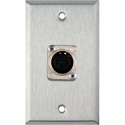 1-Gang Stainless Steel Wall Plate with Latchless 3-Pin Female XLR