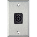 MCS WPL-1123 1-Gang Stainless Steel Wall Plate w/One 4-Pole speakON Male Connector