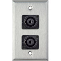 My Custom Shop WPL-1124 1-Gang Stainless Steel Wall Plate w/ Two 4-Pole speakON Male Connectors