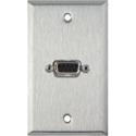 1G Stainless Steel Wall Plate w/One 9-Pin D-Sub Rear Solder Connector