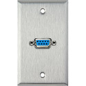 MCS WPL-1142 1-Gang Stainless Steel Wall Plate w/ One 9-Pin F-F