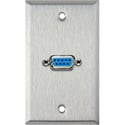 1-Gang Stainless Steel Wall Plate with One 9-Pin D-Sub Barrel