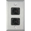 MCS WPL-1158 1-Gang Stainless Steel Wall Plate w/ 2 RJ11 Feedthru