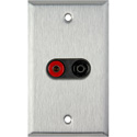 MCS WPL-1161 1-Gang Stainless Steel Wall Plate w/ 1 Pomona Dual Banana Jack 1-Black/1-Red
