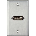 My Custom Shop WPL-1185 1-Gang Stainless Steel Wall Plate w/ 1 DVI Feed-Thru