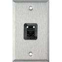 1G Stainless Steel Wall Plate with 1 TecNec Cat 6 Barrel