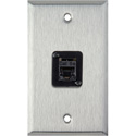 MCS WPL-1194 1-Gang Stainless Steel Wall Plate w/ 1 CAT5e RJ45 F-F Panel Mount Connector