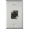 My Custom Shop WPL-1199 1-Gang Stainless Steel Wall Plate w/ (1) HDMI Feedthru