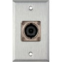 1G Stainless Wall Plate w/1 Neutrik NL8MPR 8 Pole Speakon Connector