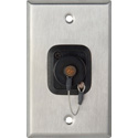 1-Gang Stainless Steel Wall Plate w/ 1 OpticalCON Quad Fiber Optic & Dust Cap