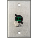 MCS WPL-1217 1-Gang Stainless Steel Wall Plate w/ 1 Duplex APC LC Singlemode Fiber Optic