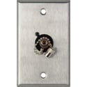 My Custom Shop WPL-1219 1-Gang Stainless Steel Wall Plate w/ 1 ST Singlemode Fiber Optic Connector