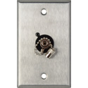MCS WPL-1219 1-Gang Stainless Steel Wall Plate w/ 1 ST Singlemode Fiber Optic Connector