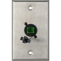 My Custom Shop WPL-1222 1-Gang Stainless Steel Wall Plate w/ 1 SC APC Multimode Fiber Optic Connector