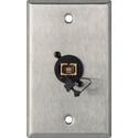 Camplex WPL-1223 1-Gang Stainless Steel Wall Plate with 1 SC Multimdoe Fiber Optic Connector
