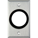 1-Gang Stainless Steel Wall Plate with One 1-5/8 inch Grommet