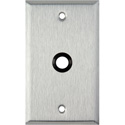 1G Stainless Steel Wall Plate with One 3/8 inch Grommet