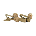WindTech TC-10 Lavalier/Lapel Mic Soft Mount Tie Clip 3 Pack Tan
