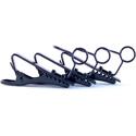 WindTech TC-6 Black Lapel Mic / Lavaliere Mic Tie Clips - 3 Pack