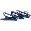WindTech TC-7 Black Lapel / Lavaliere Mic Tie Clips for 1-2mm Cables - 3 Pack