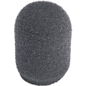 WindTech 500-01 500 Series Military Grade Foam Windscreen for Headset/Podium/Lavalier Type Microphone - 1/2 Inch - Gray