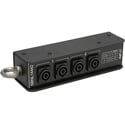 Whirlwind SBNL14442 Splitter - Speakon Stagebox 1 NL4/4 NL4 Wired 2-Pole in Pairs