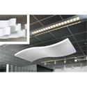 Sonex WWC-8 WhisperWave Ceiling Clouds Acoustic Foam - 48 x 96 - Natural Grey - Per Sheet