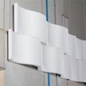 Sonex WWR-2  WhisperWave Accoustical Foam Ribbon Wall Panels - 18in x 48in - White - Box of 4 Panels