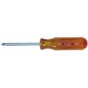 Xcelite X101 No. ! Phillips x 3 Inch Round Blade Screwdriver with Amber Handle