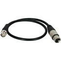 Laird XLF-B-1.5 Premium Quality 3-Pin XLR Female to BNC Male Timecode Cable - 18 Inch