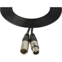 Laird XLM4-XLF4-25 Power Cable XLR 4-Pin Male to Female Sony KD Equivalent - 25 Foot