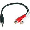Connectronics Y-MPS-2PF Stereo Mini 3.5mm Male To Dual RCA Female Y-Cable 6Inch